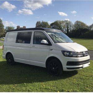 White VW Camper